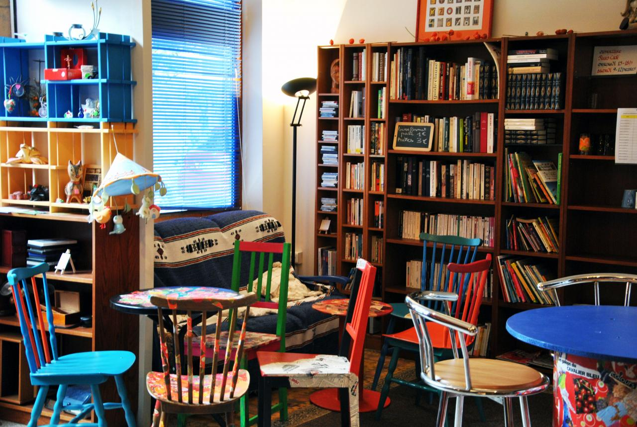 Les livres et l'espace café