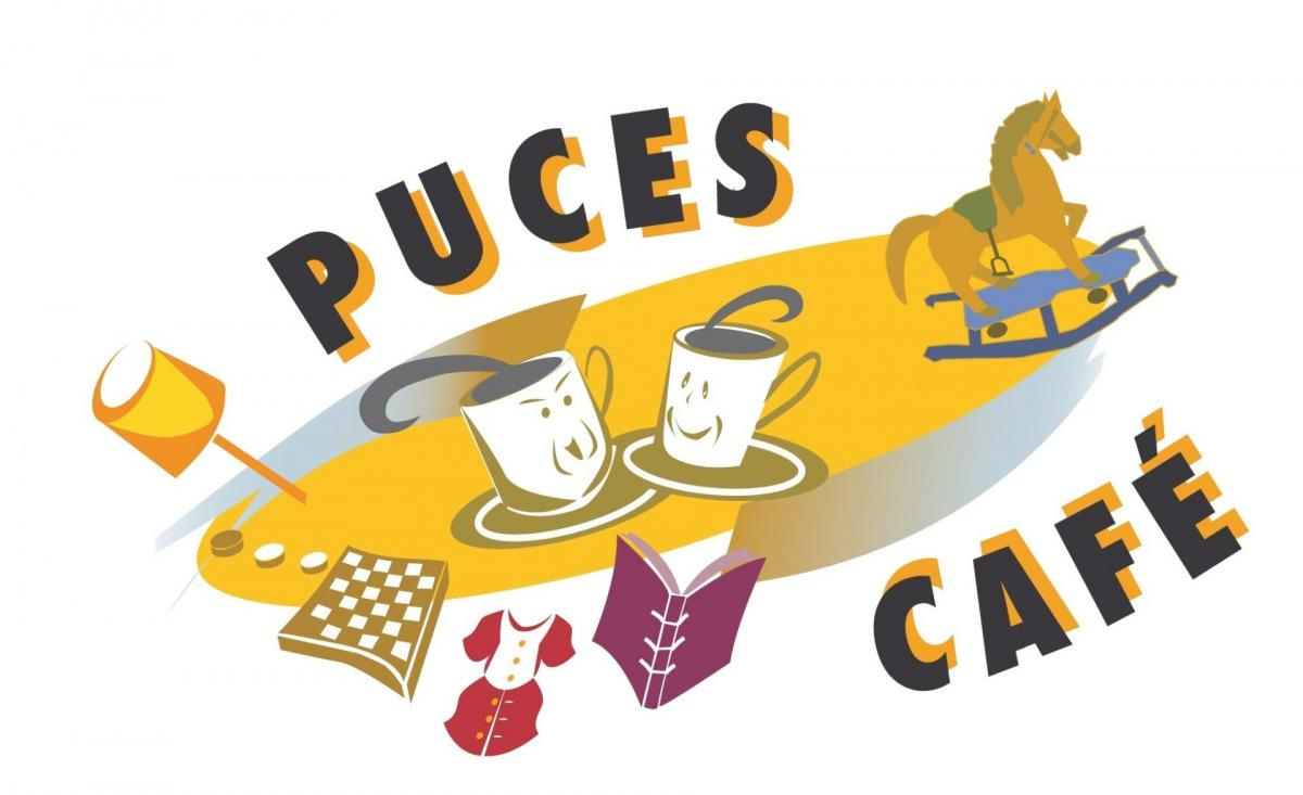 Logo puces cafe transparent